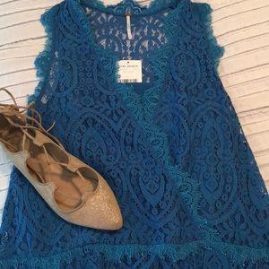 Free People Lace Drop-Waist Dress, NWT